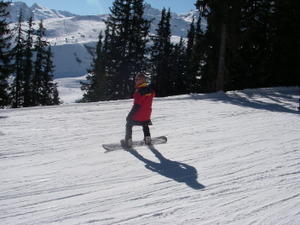 Skiing in LaTania in February 2007